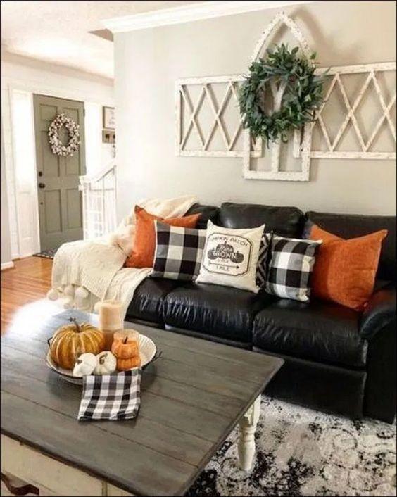 ➽35+ Easy Inexpensive & Inspiring Fall Decor Ideas for Your Living Room Design | newsmartdesign.com #falldecor #falldecorideas