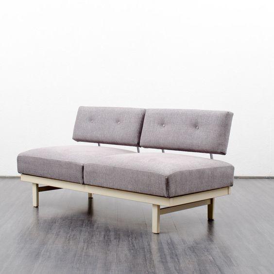 Sitzgarnituren - 60er MAGIC SOFA Modell STELLA, Knoll, neu bezogen - ein Designerstück von Velvet-Point bei DaWanda
