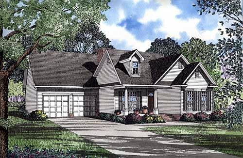 Elevation of Country   Traditional   House Plan 62047