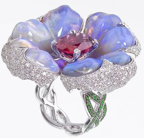 katherine jetter ring with Australian opals.