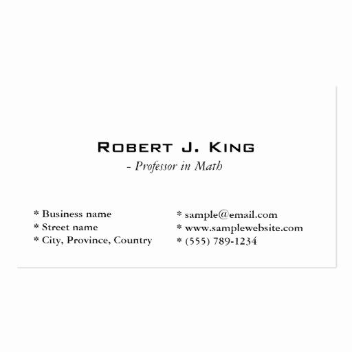Simple Business Card Template Free Elegant Plain Simple White Double Sided Stand In 2020 Free Business Card Templates Business Card Template Word Simple Business Cards