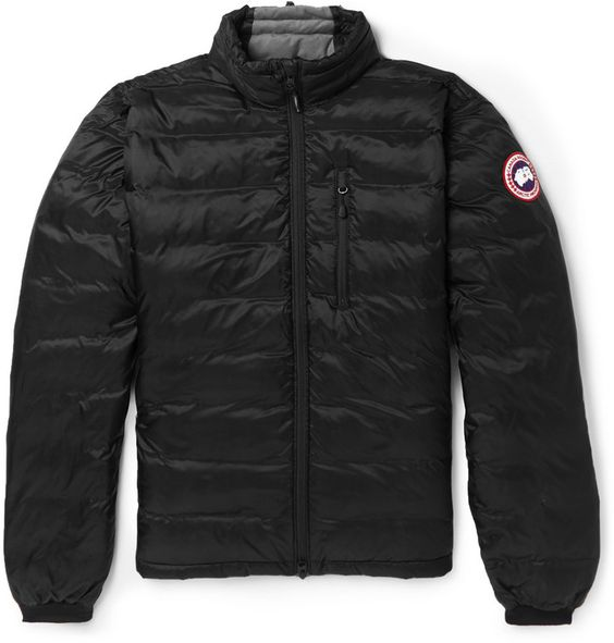 Canada Goose Lodge Packaway Quilted Down-Filled Jacket, Part of Canada Goose 's Lightweight Collection, this snug quilted jacket is designed for extreme temperatures between 0° and -15°C, in a clever design that can be neatly packed into the inner pocket and used as a cushion. #Warm #Lightweightdown