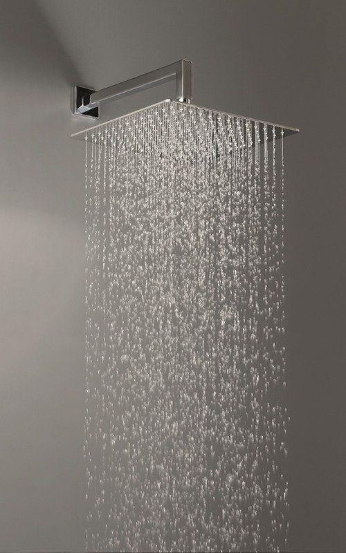Spring Sq 250 Top Mounted Shower Head Shower Heads Modern