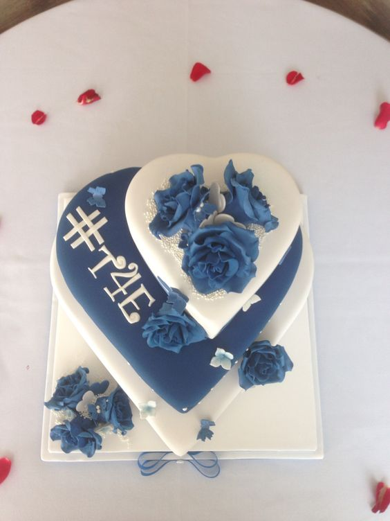 Stacked heart cake. X