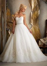 Bridal Dress: Mori Lee Bridal SPRING 2013 Collection: 1917 - Beaded Alencon Lace on Tulle