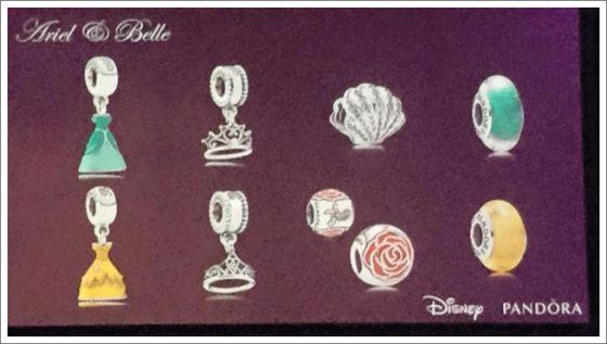 Pandora Disney Spring 2015 - Ariel and Belle Princess charms!