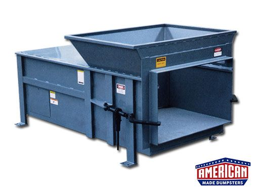 Kpac Style 2 Yard Stationary Compactors For Sale American Made Dumpsters In 2020 Locker Storage Compactors Dumpsters