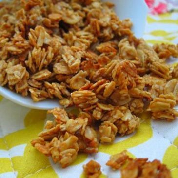 peanut butter granola Recipe- I have tried 3 different granola recipes so far, but this one outshined them all! next time I'm going to triple the recipe !