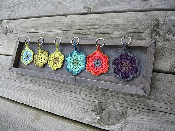 African flower keyrings