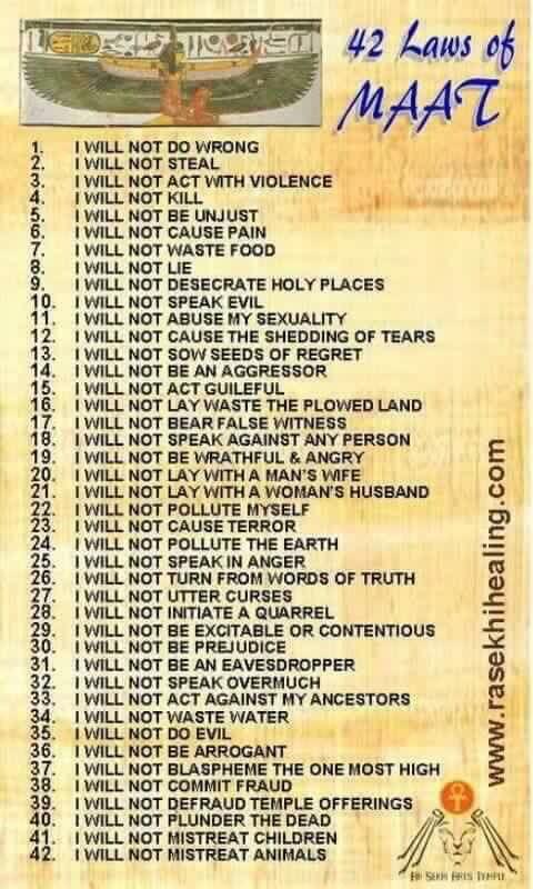 42 wetten van Maät
