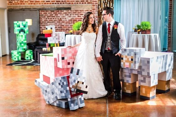 Matt and Asia's Minecraft wedding.