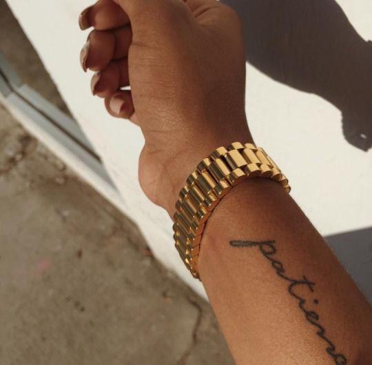 Yeezys Girl Cursive Tattoos Girly Tattoos Patience Tattoo