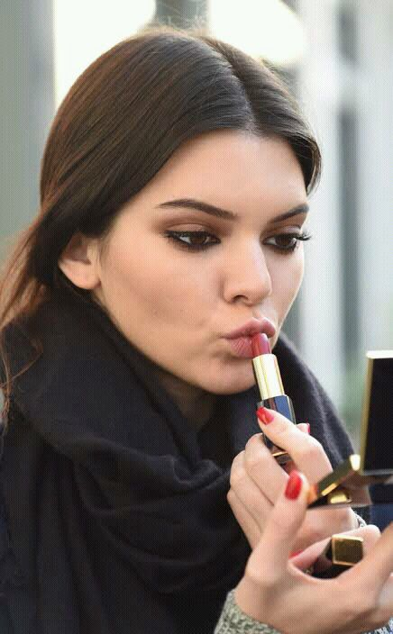 Image de kendall jenner, make up, and model