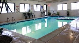 Indoor pool and Red Sands Hotel near Capitol Reef National Park