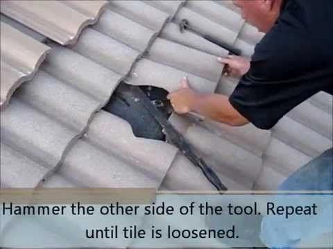 How To Replace A Broken Tile In The Middle Of Your Roof Replaceyourroofing Roof Repair Roof Cleaning Roofing