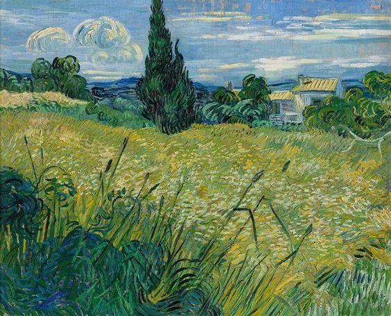 Green Wheat Field, 1889, Vincent van Gogh