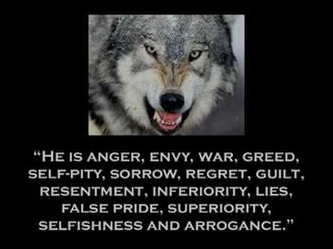 Cherokee Wisdom.  Tale of Two Wolves ~