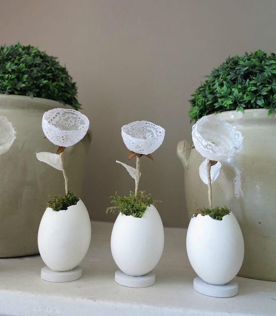Ідеї використання яєчної шкаралупи у весняному декорі | Ідеї декору