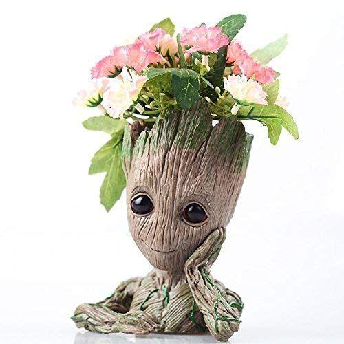 Baby Groot Planter Tree Man Figure Flower Pot Guardians of The Galaxy Pen Holder