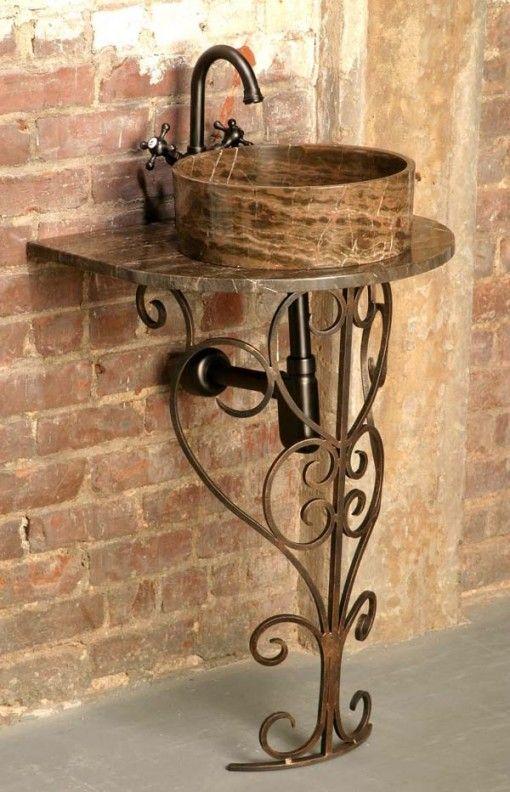 Bachas Para Baño Con Pie:exteriores mesas de metal diseño polvo rústico ideas patio tope de