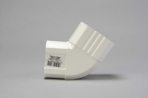 Kp K Snap White A Style Downspout Elbow Connector Downspout Roof Soffits Style