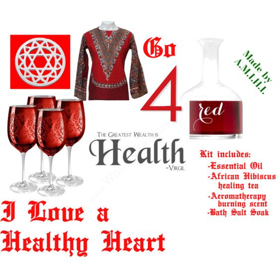 """""""Heart Health"""" by amihi on Polyvore"""