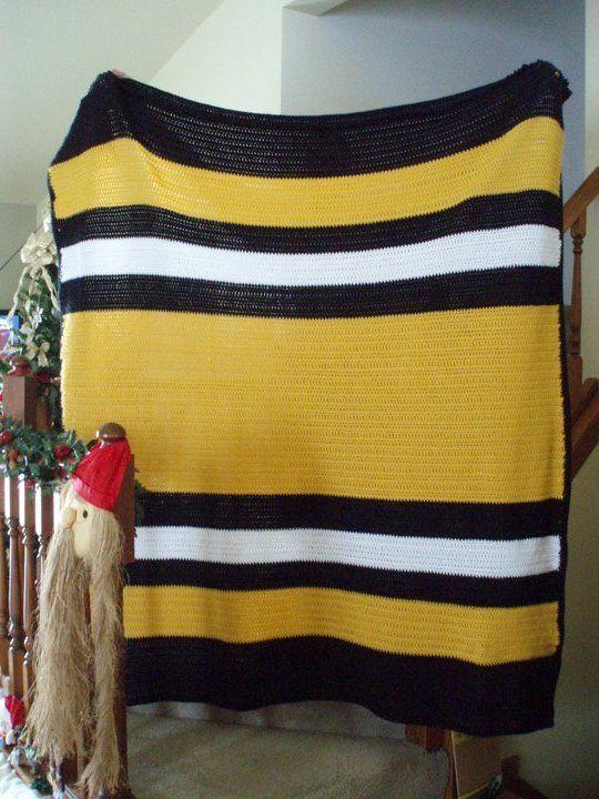 Crochet Pattern Steelers Afghan : HUGE Steelers-themed afghan I made. My Crochet Creations ...