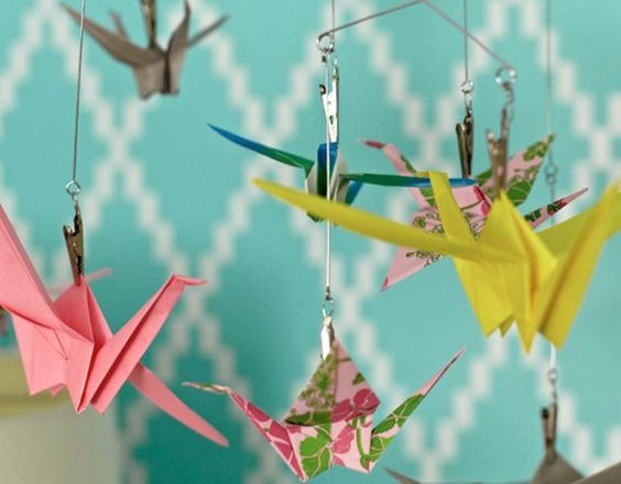 DIY Origami Mobile for a Nursery | House Counselor