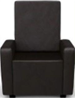 Пуф-кресло «Тетри» коричневый
