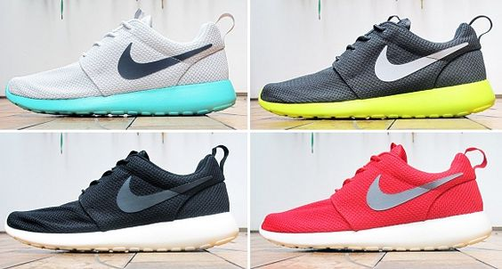 colourful nike roshe