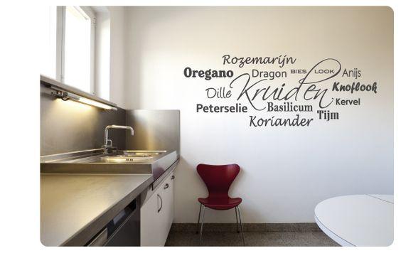 Muurstickers Keuken Decoratie : Muursticker – decoratie Pinterest