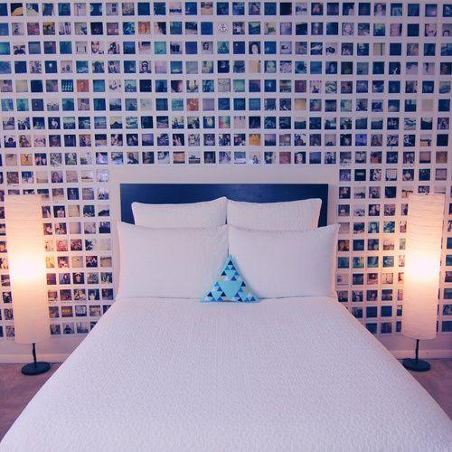 Photo wall tumblr for the home pinterest photo for Polaroid lichterkette
