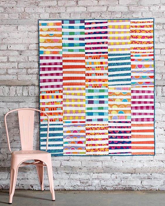 Sharing this quilt I made with @kaffefassettstudio's new Artisan collection for @freespiritfabric! The blocks were inspired by a quilt my friend @owensolivia made recently.