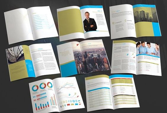Annual Report Template by Templatepickup on @creativemarket - annual report template