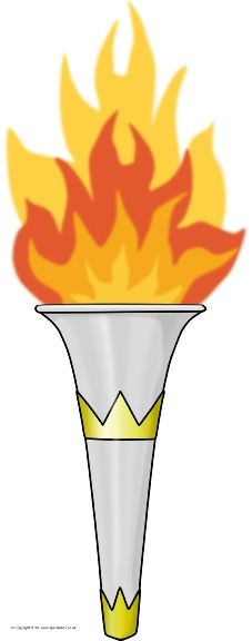 Giant Olympic Torch Picture for Display (SB11583) - SparkleBox