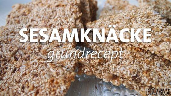 sesamknacke-grundrecept-lchf - Sesame crackers - Recipe in Swedish. Give me a shout if you need translation :0)