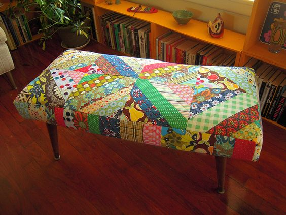 quilted bench