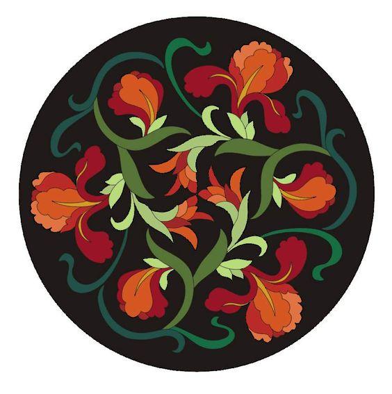 Chinese flower vector design 2