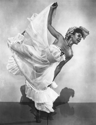 "Katherine Dunham in ""L'Ag'Ya,"" 1938.  Ms. Dunham revolutionized modern dance, blending classical movement with African and Caribbean rhythms to create a new form, the renowned Dunham Technique.  Missouri History Museum"