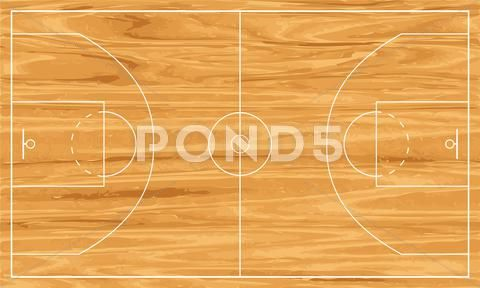 Wooden Basketball Court Stock Illustration Ad Basketball Wooden Court Illustration Basketball Court Pictures Stock Illustration Basketball Court Layout