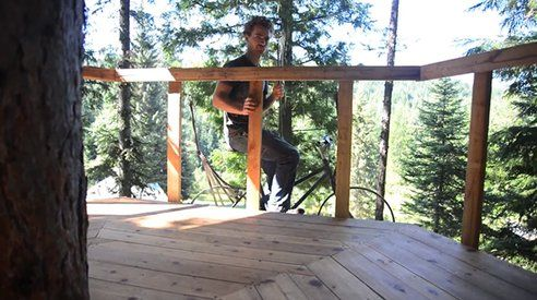 Man Builds Ingenious Treehouse Elevator Using A Bike [W/Video] ‹ truthseekerdaily.com