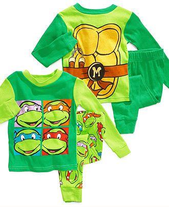 AME Kids Pajamas, Toddler Boys Teenage Mutant Ninja Turtles 4-Piece Cotton PJs - Kids - MACYS