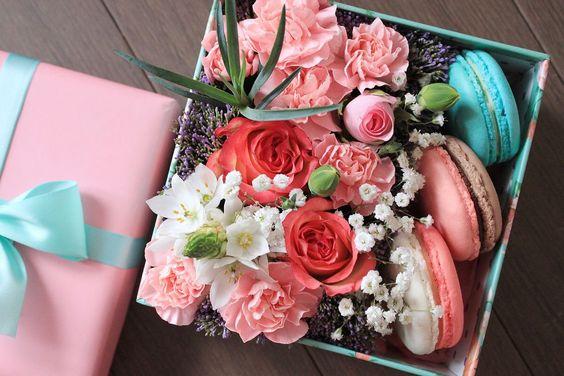 макарон с цветами: