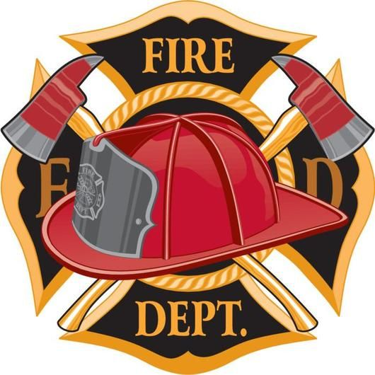 Fire Department Cross Symbol Wall Decal