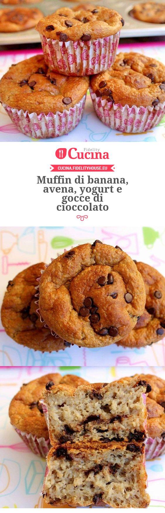 #Muffin di #banana, avena, yogurt e gocce di #cioccolato della nostra utente Vittoria. Unisciti alla nostra Community ed invia le tue ricette!
