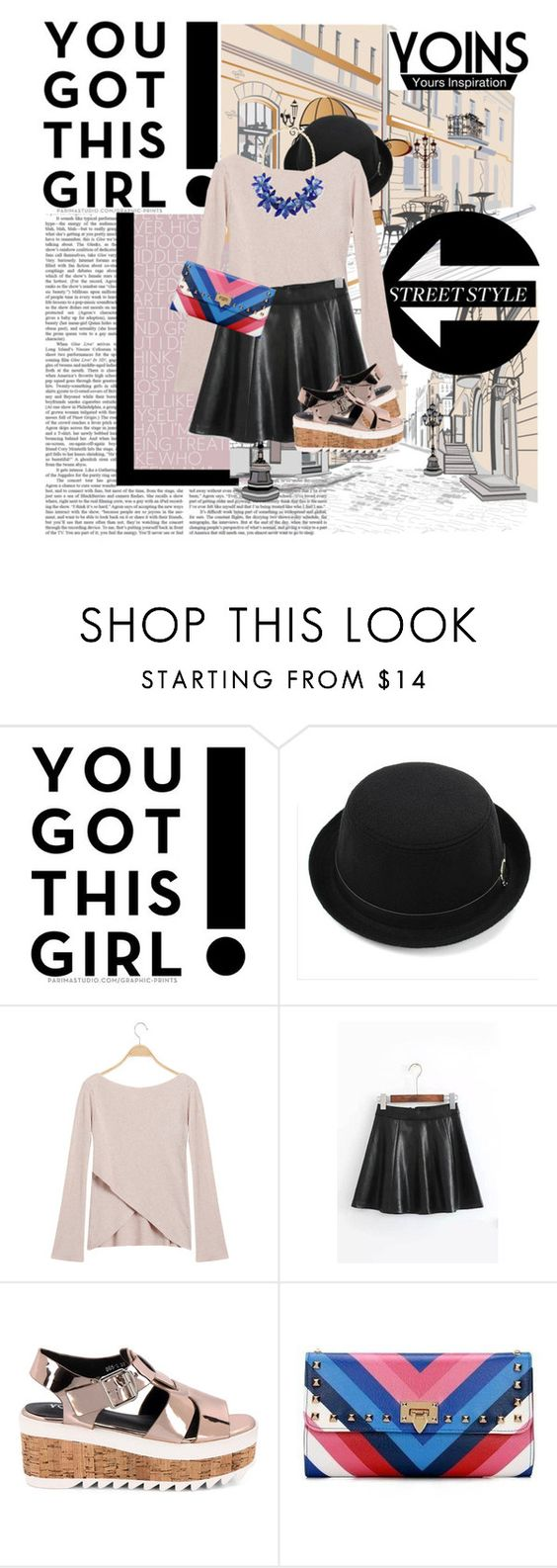 """Yoins street style"" by gabygirafe ❤ liked on Polyvore featuring Kate Spade, yoins and loveyoins"