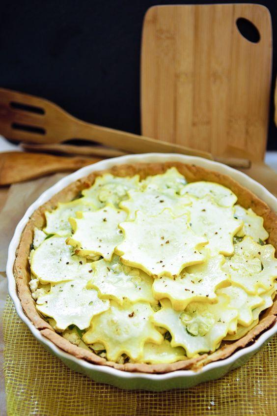 Star Squash Tofu Chevre Tart #vegan #glutenfree | Keepin' It Kind