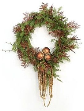 Burnished Bronze Christmas Wreath
