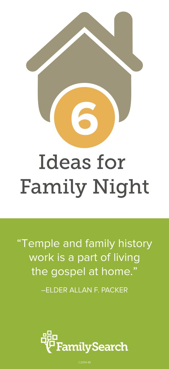 6 Quick And Easy Family Home Evening Lessons To Introduce Family History Work