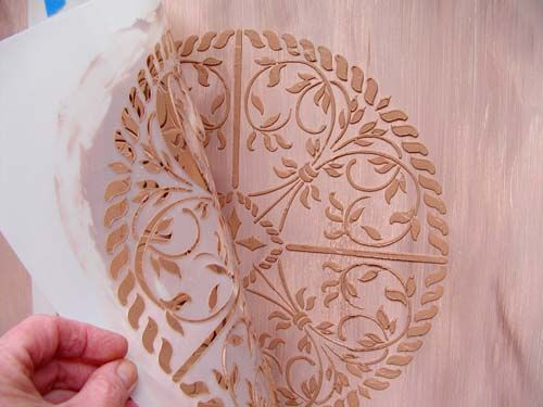 Crafts kitchen backsplash and painted furniture on pinterest for Plaster crafts to paint